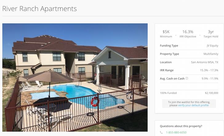 River Ranch Apartments at Canyon Lake, Texas RealtyShares deal