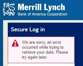 Merrill Lynch trading down