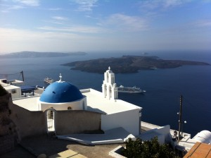 Retirement Travel In Santorini